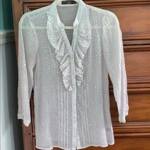 The Limited silver blouse, medium